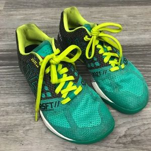 Reebok CrossFit CR5FT Teal/Yellow/Gray Shoes, 6.5